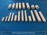 tubo com rasgo para cartucho de baixa carga